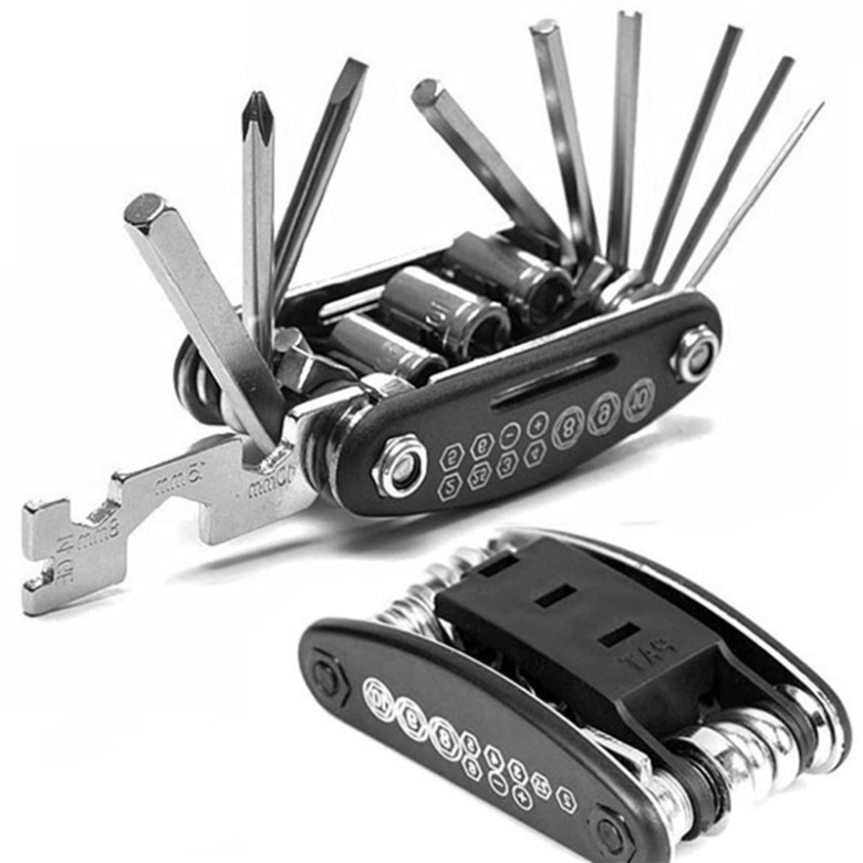 Portable 15-in-1 Bicycle Repair Tool Kit Set