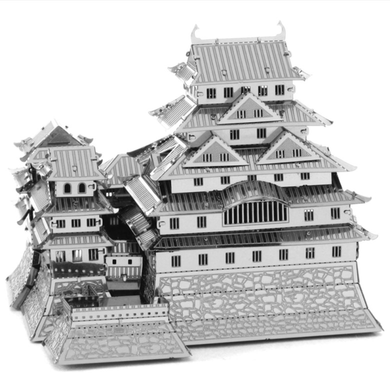 Mini DIY 3D Nanometal Model 3D Himeji-jo Castle Puzzle - Silver