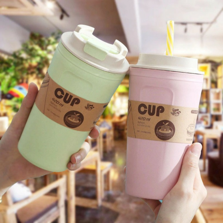 Leak Proof Bamboo Fiber Coffee Cup [420ml]