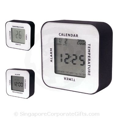 4 Way Digital Clock with Thermometer and Calendar-4