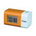 Designer Rotation LCD clock with Multi-colour Light