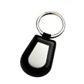 Leather with Metal Keychain -2