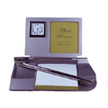 Exclusive Memo Holder With Clock, Photo Frame and Pen