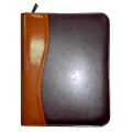 A5 Leather Portfolio with Zip