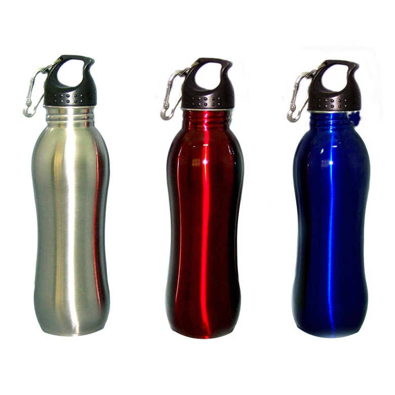 ASB76 Stainless Steel Sport Bottle w/Carabiner (700ml)