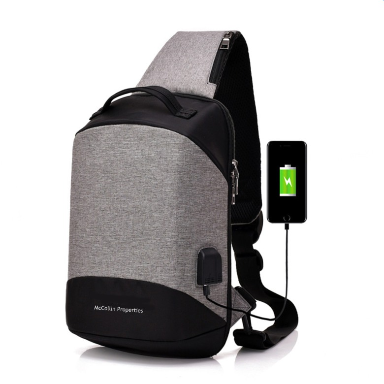 Anti-theft Sling Bag with USB