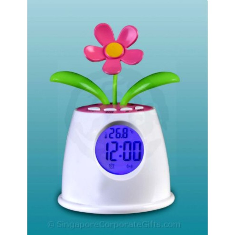 Solar Flower Talking Clock