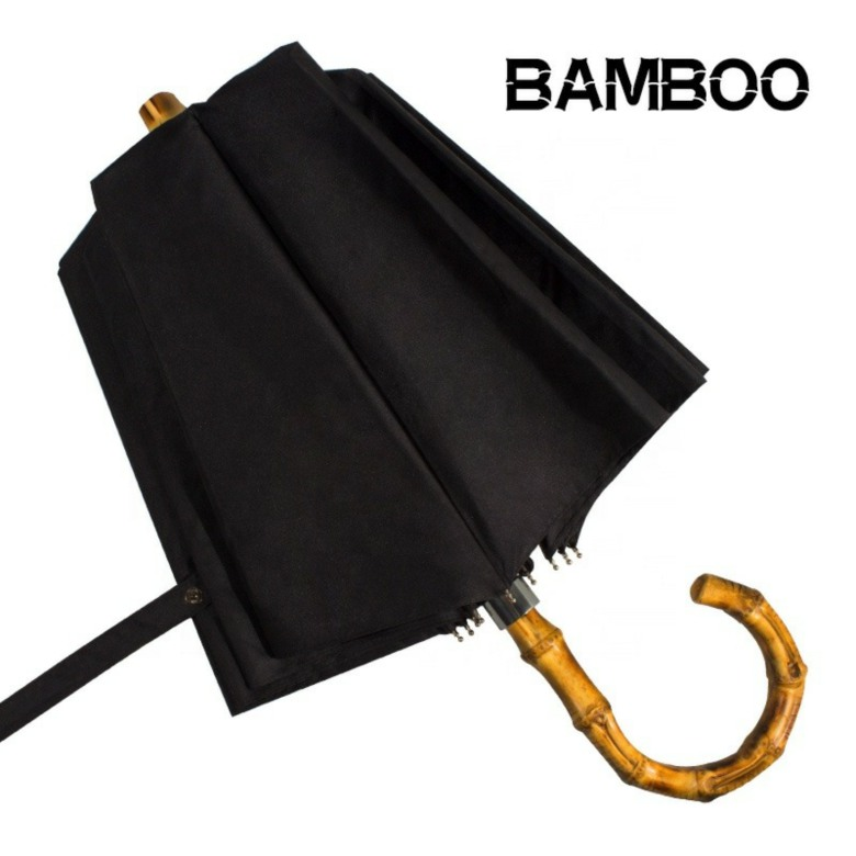 3 Fold Bamboo Handle Umbrellas [23 inch]