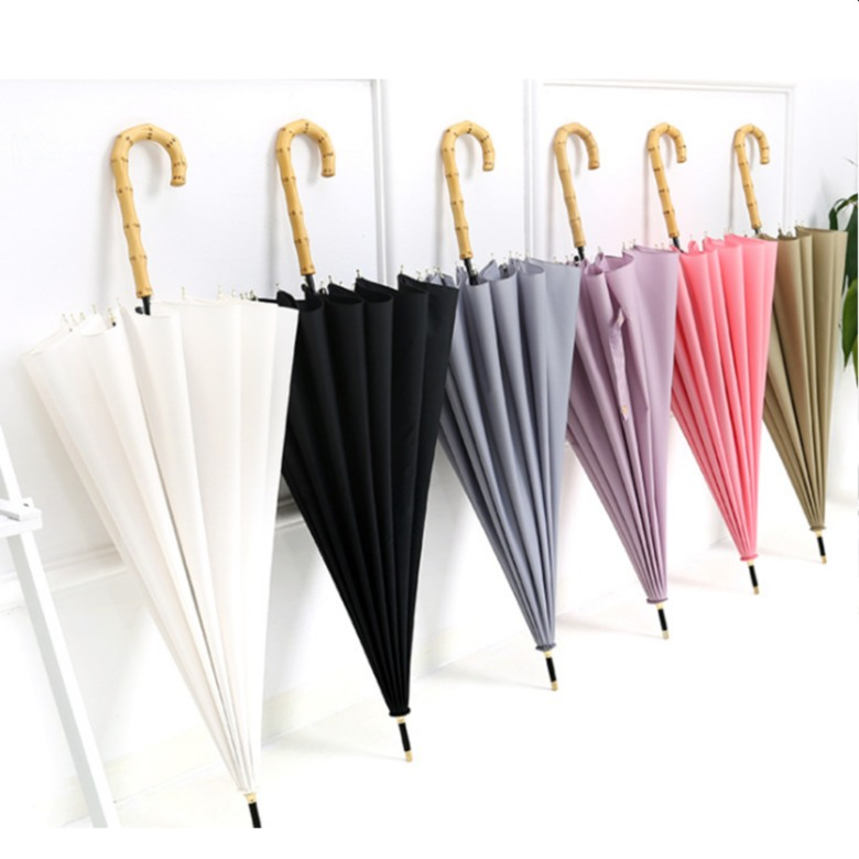 "Auto Open Bamboo Handle Vintage Umbrella (23 "")"
