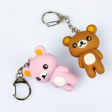 Bear LED Keychain with Voice