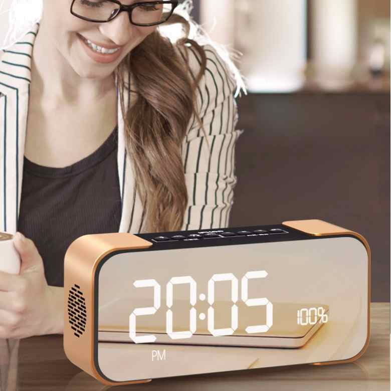 Bluetooth Speaker with FM and Clock