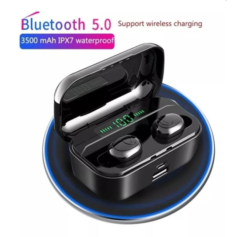 6S TWS Earphone Bluetooth 5.0 HiFi Sound, wireless charging
