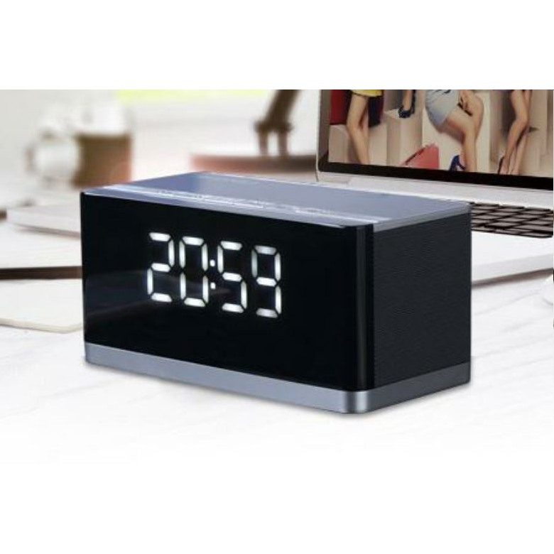 Surround Sound Bluetooth Speaker with FM Radio Alarm Clock