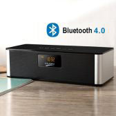 Bluetooth Speaker with Clock and Radio