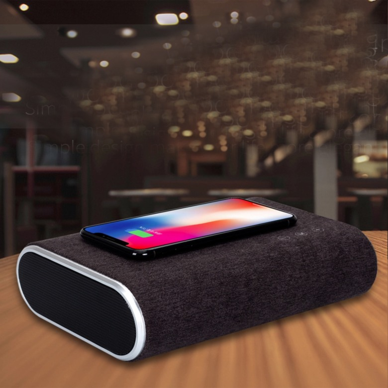 Wireless Charger with Stereo Bluetooth SpeakerSpeaker