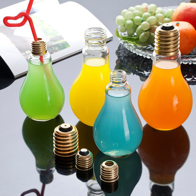 Plastic Bulb Shaped mug (300ml)