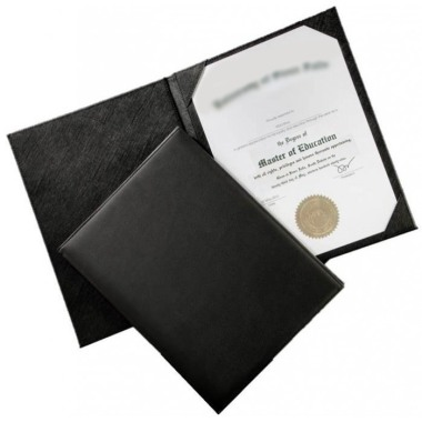 A4 Leather Certificate Holder