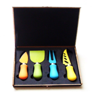 Colourful Cheese Knife Set with box