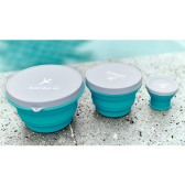 3 in 1 Circular Silicone collapsible lunch box