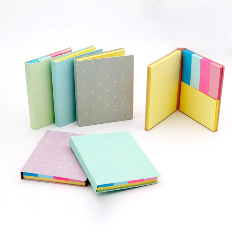 Colourful sticky memo pad