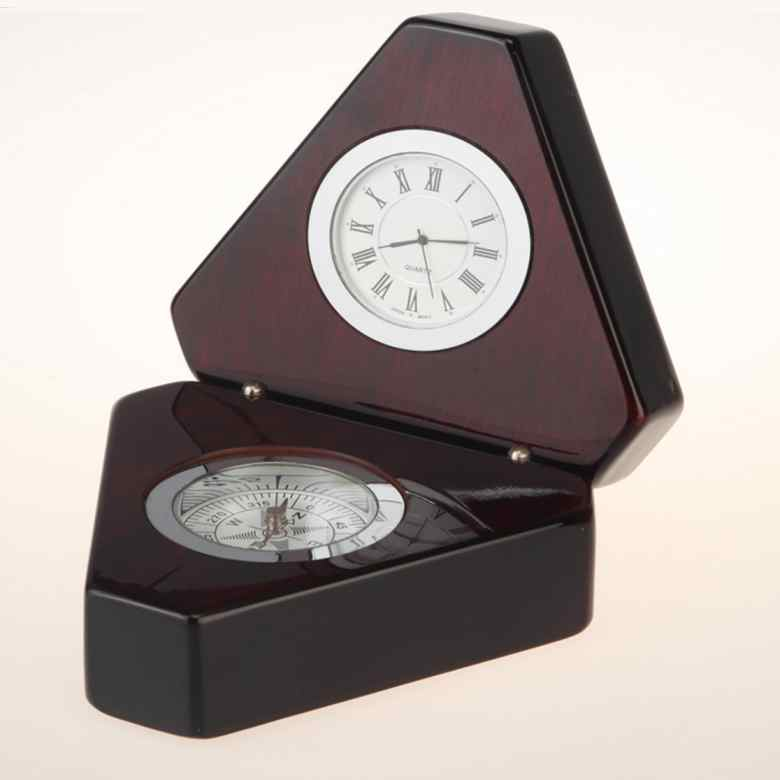 Designer Compass with Clock  A6038