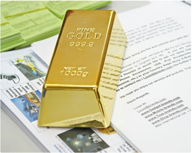 Gold Bar Paper Weight 2