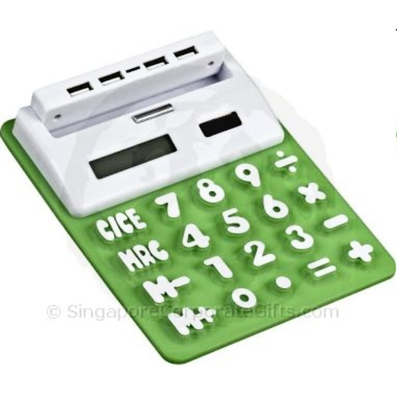 Solar USB Hub with Calculator