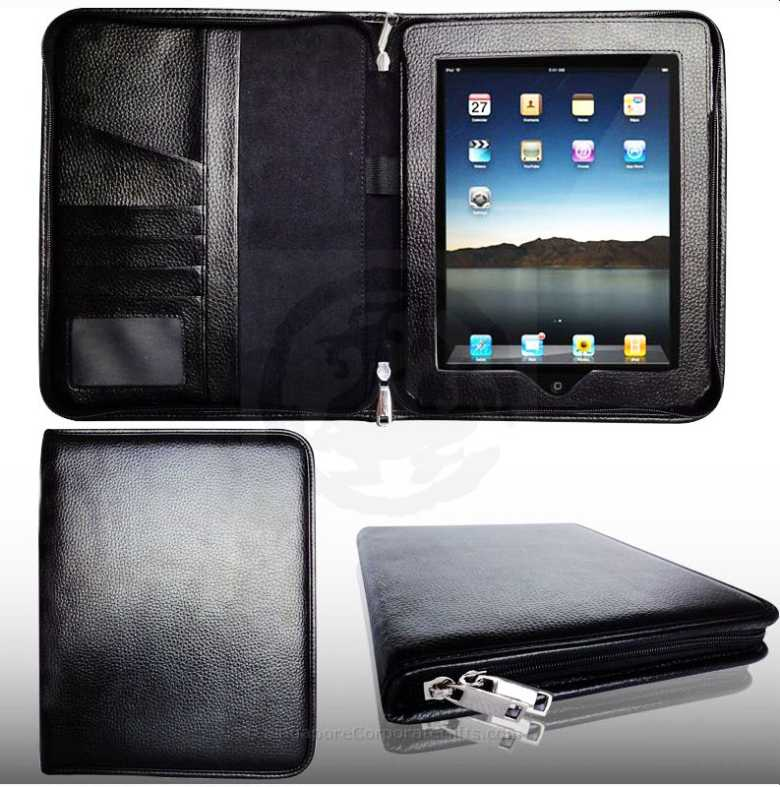 Exclusive iPad Holder with Zip