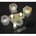 Rechargable 3 Super Bright LED Candle (Single Colour)-remote