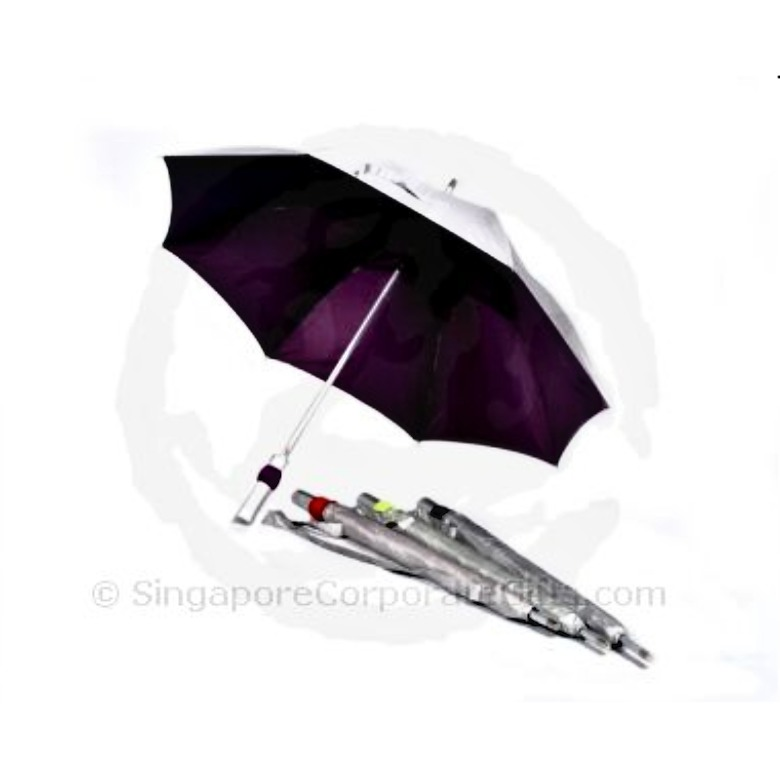 Umbrella with UV protection, Aluminium shaft and sling pouch(24""
