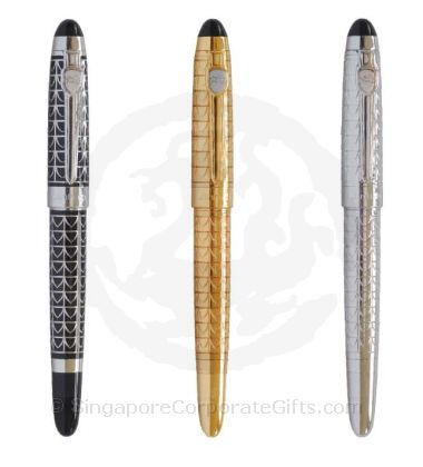 Exclusive Metal Pen with Shiny Finish 195-1-3(Ball, Roller, Foun