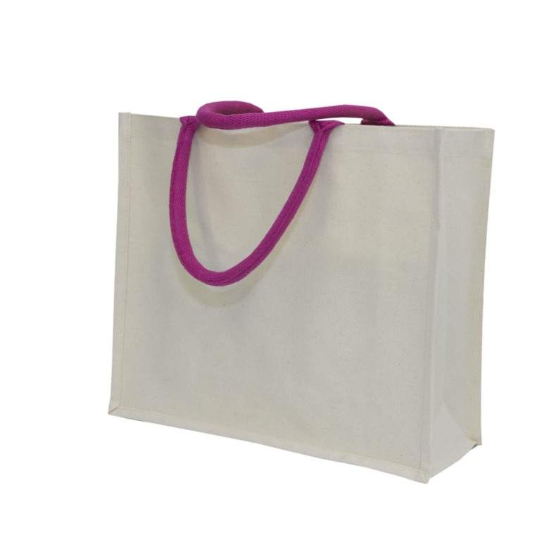 Canvas Bag with Colourful String