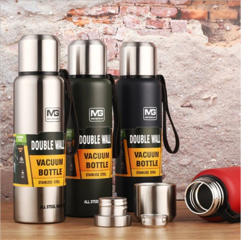 Double Walled Stainless Steel Vacuum Flask [1 litre]