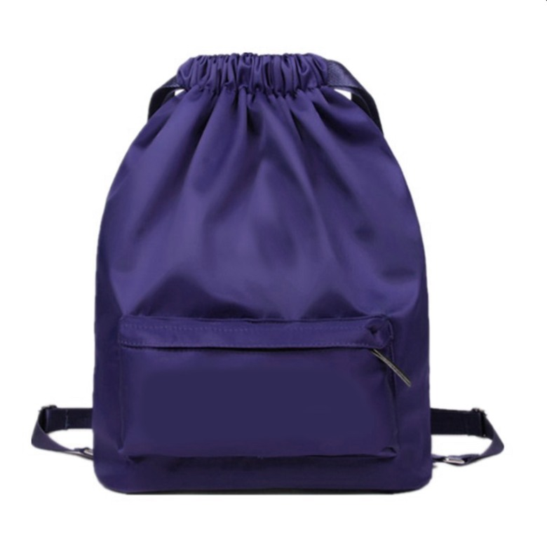 Waterproof Drawstring Bag with Side Pocket