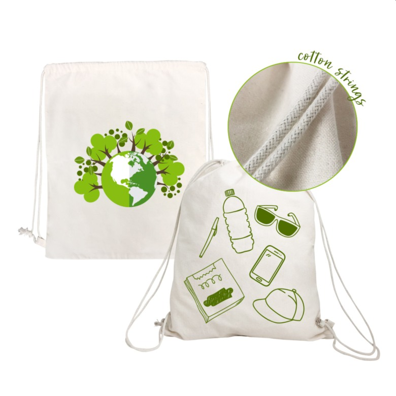 Eco Friendly Drawstring Cotton Bag