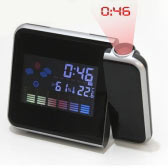 Projector Alarm Clock with Humidity Display