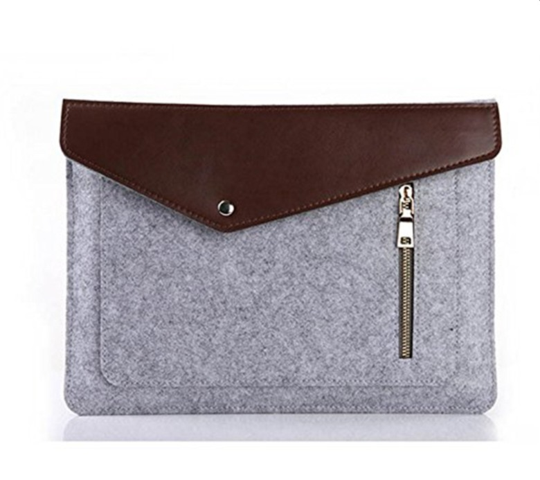 Felt with PU Leather Document Bag