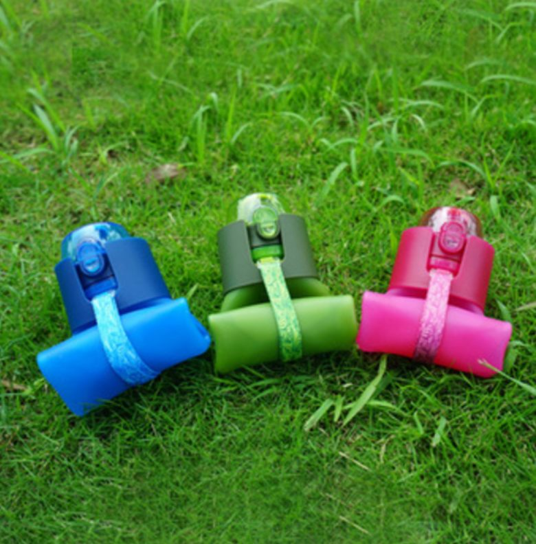 Portable silicone water bottle drink water bottle BPA Free [500m