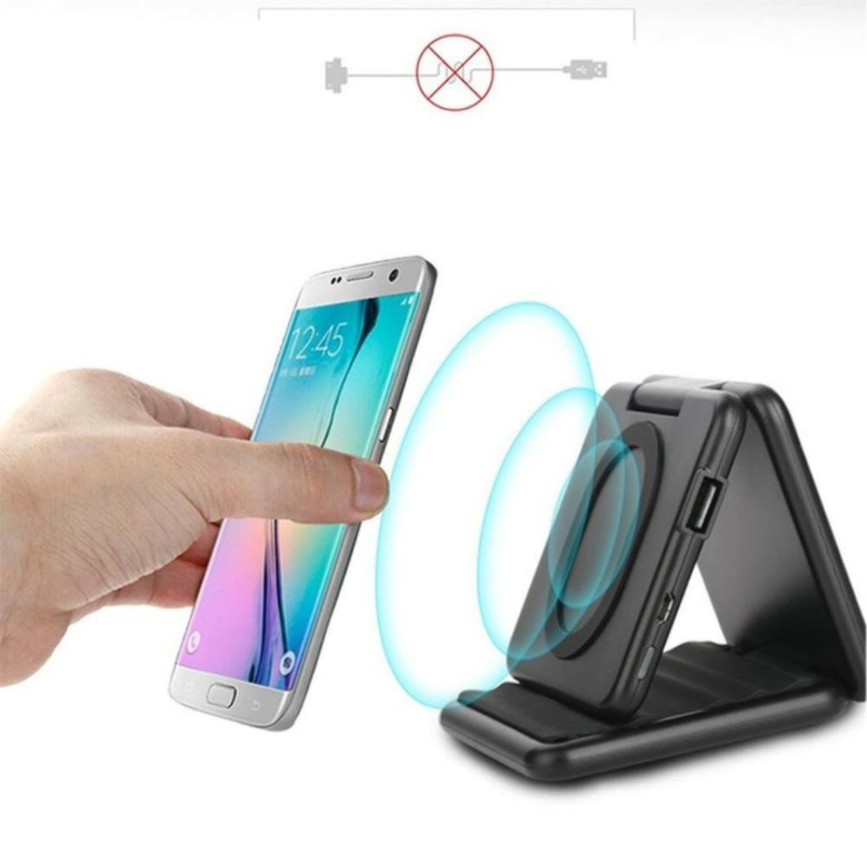 Foldable Wireless Charger with Phone Stand (5000mAh)