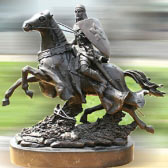 Bronze Jumping Horse Sculpture