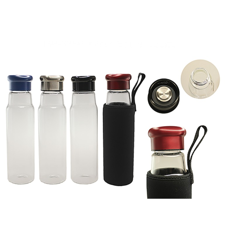 Glass Bottle with Neoprene Pouch (550ml)