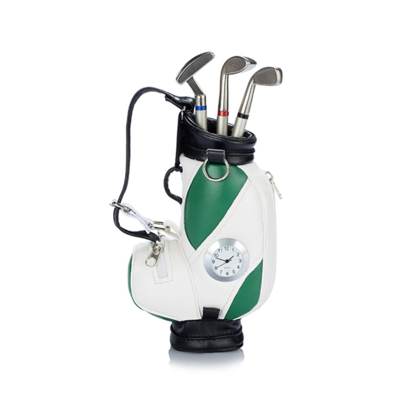 Golf Bag with Pen, Clock and base