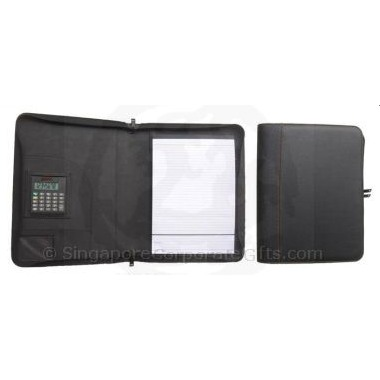 A4 Portfolio with zipper around and calculator