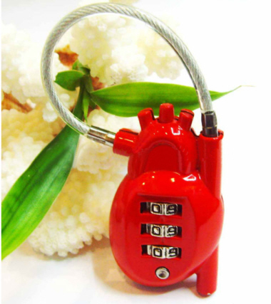 Heart Shaped Luggage Lock CR015