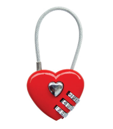 Heart Shaped Luggage Lock CR28-A