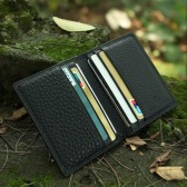 RFID Blocking Genuine Leather Card Holder