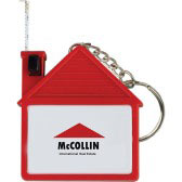 House Shaped Key Chain and Measuring Tape