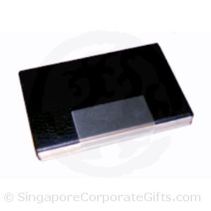 K87228 Black PU/Aluminium Card Case