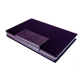 Black PU(Both sides)/Aluminium Card Case
