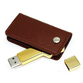 Key Thumbdrive with Leather Holder [8GB]